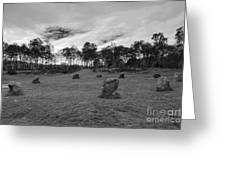 9 Ladies Stone Circle, Stanton Moor, Peak District National Park Greeting Card