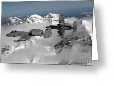 A-10 Thunderbolt IIs Fly Greeting Card