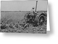 A Farmer Driving A Tractor Greeting Card
