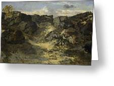A Rocky Landscape Greeting Card