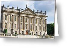 A View Of Chatsworth House, Great Britain Greeting Card