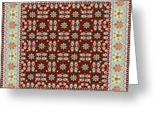 Abstract Ethnic Shawl Floral Pattern Design Greeting Card