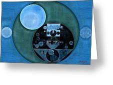 Abstract Painting - Lapis Lazuli Greeting Card