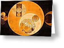 Abstract Painting - Smoky Black Greeting Card