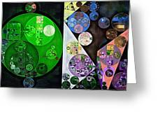 Abstract Painting - Swirl Greeting Card