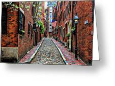 Acorn Street Boston Greeting Card