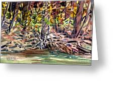 Across The Creek Greeting Card
