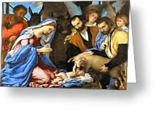 Adoration Greeting Card