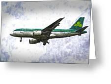 Aer Lingus Airbus A319 Art Greeting Card