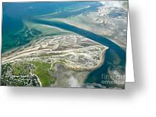 Aerial Vew Of Sandy Neck Beach In Barnstable On Cape Cod Massac Greeting Card