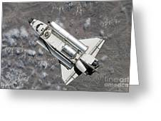 Aerial View Of Space Shuttle Discovery Greeting Card by Stocktrek Images