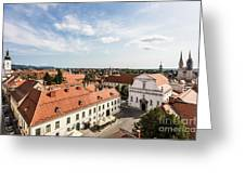 Aerial View Of Zagreb In Croatia Greeting Card