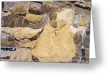 Aerial View Over The Sandpit. Industrial Place In Poland. Greeting Card