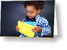 African Schoolboy Portrait Greeting Card