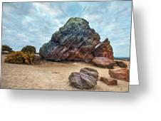 Agglestone Rock - England Greeting Card