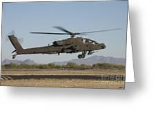 Ah-64d Apache Longbow Lifts Greeting Card