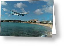 Air Caraibes Landing At St. Maarten Greeting Card