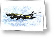 Air New Zealand Hobbit Boeing 777 Art Greeting Card
