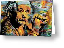 Albert Einstein.. - By Prar Greeting Card
