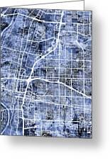 Albuquerque New Mexico City Street Map Greeting Card