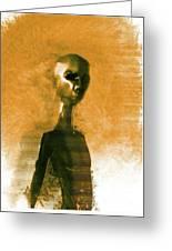 Alien Portrait Greeting Card