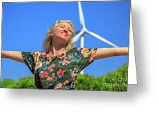 Alternative Energy Concept Greeting Card