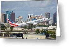 American Airlines Greeting Card