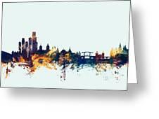Amsterdam The Netherlands Skyline Greeting Card