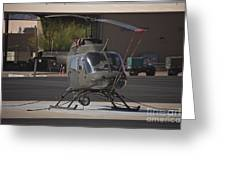 An Oh-58 Kiowa Helicopter Of The U.s Greeting Card