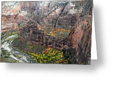 Angels Landing In Zion Greeting Card