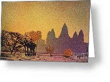 Angkor Sunrise Greeting Card