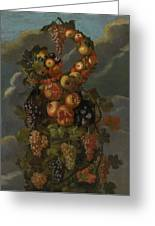 Anthropomorphic Allegory Of Autumn Greeting Card