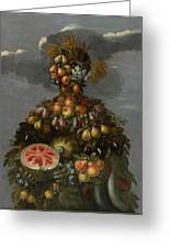 Anthropomorphic Allegory Of Summer Greeting Card