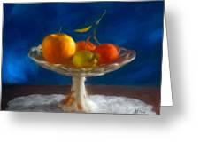 Apple, Lemon And Mandarins. Valencia. Spain Greeting Card