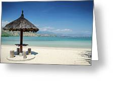Areia Branca Tropical Beach View Near Dili In East Timor Greeting Card