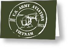 Army Aviation Vietnam Greeting Card