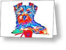 Art Dogportrait Greeting Card