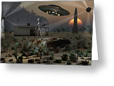 Artists Concept Of A Science Fiction Greeting Card