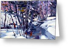 Aspen In The Snow Greeting Card