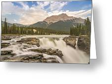 Athabasca Falls Jasper National Park Canada Greeting Card