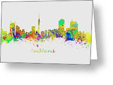 Auckland New Zealand Skyline Greeting Card