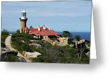 Australia - Path To Barrenjoey Lighthouse Greeting Card