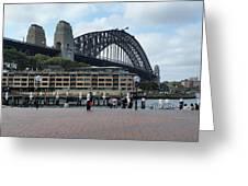 Australia - Sydney Harbour Bridge On Circular Quay Greeting Card