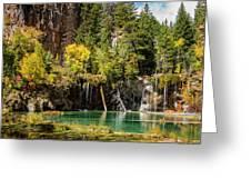 Autumn At Hanging Lake Waterfall - Glenwood Canyon Colorado Greeting Card