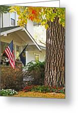 Autumn In Small Town America Greeting Card