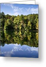 Autumn Sunrise Reflection Landscape Greeting Card