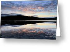 Autumn Sunset, Ladybower Reservoir Derwent Valley Derbyshire Greeting Card