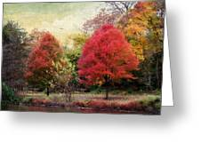Autumn's Canvas Greeting Card