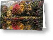 Autumn's Mirror Greeting Card