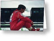 Ayrton Senna. 1992 French Grand Prix Greeting Card
